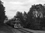 BP 452 leads SIJB down the long grade to Johnsonburg